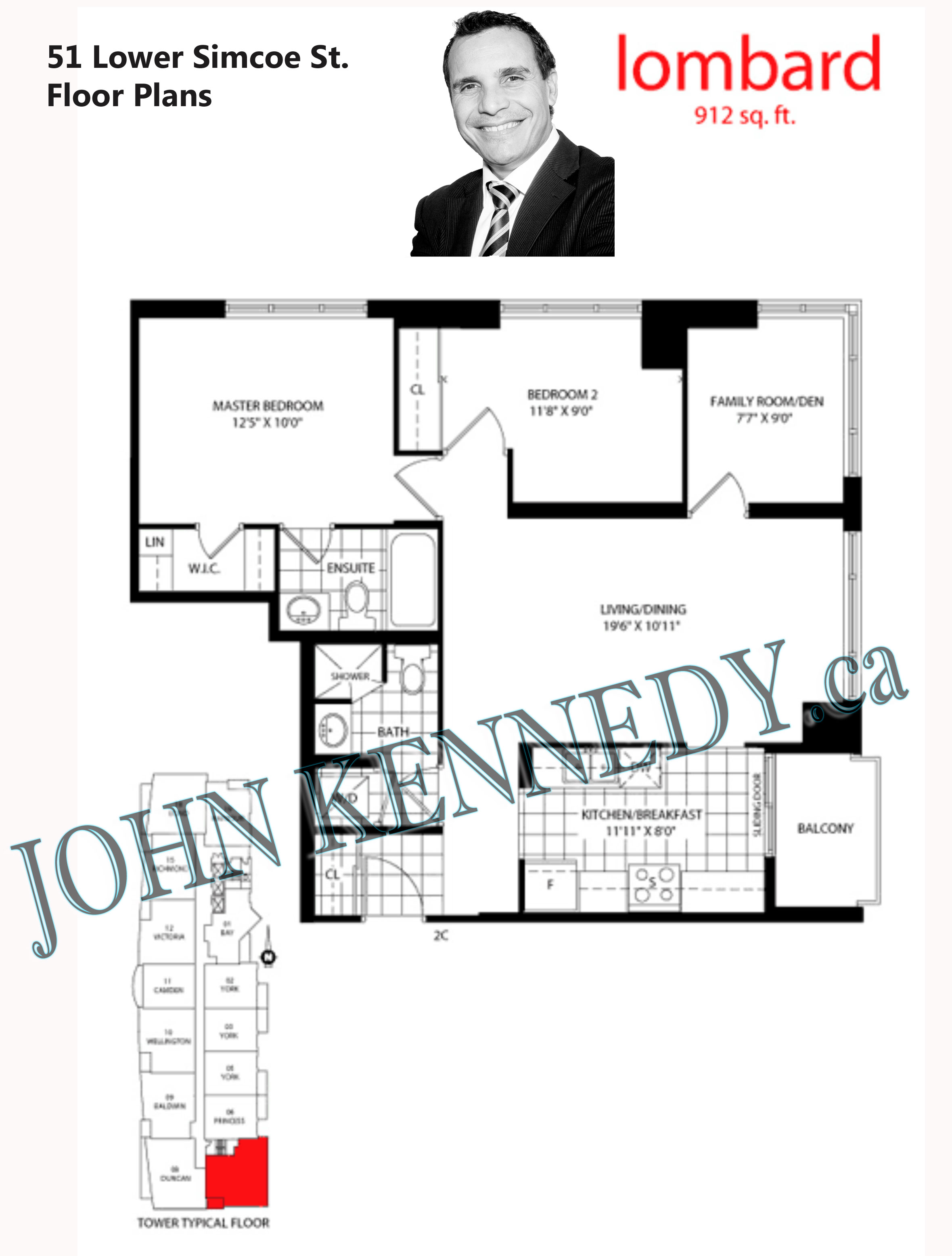 126 Simcoe Floor Plan Of 51 Lower Simcoe St Toronto Infinity Condos Condos For