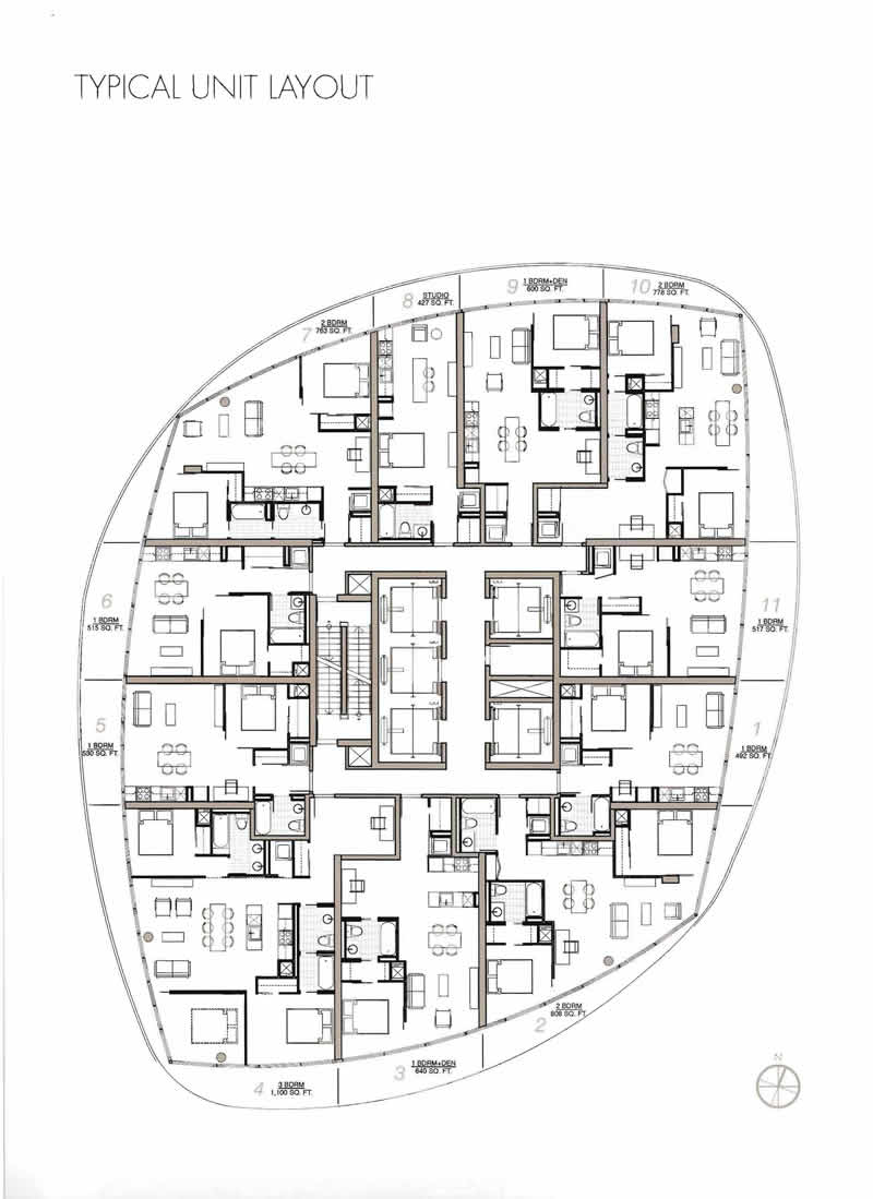 14 york st condos for sale and for rent john kennedy for Condo blueprints